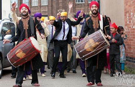 Dhol-Players-Black-Shirwani