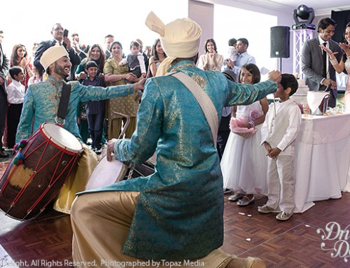 Dhol Players in Blue Dhoti