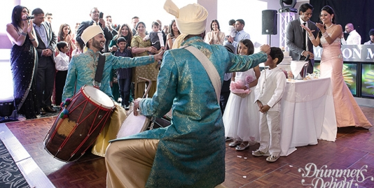 wedding dhol players