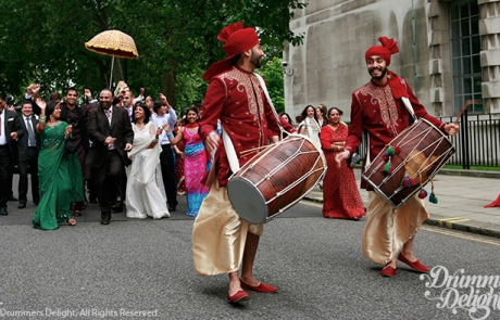 Dhol-Players-Red-Dhoti-1
