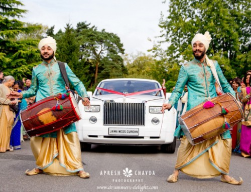 Dhol Players at the Copthorne Hotel, Gatwick