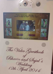 Video Guest book at Wedding in Wandsworth town