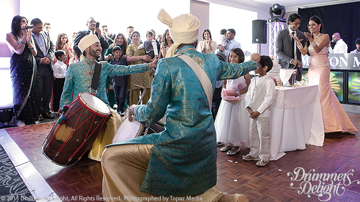 wedding dhol players