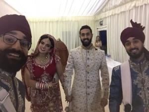 Picture of Dhol Players London Pre-'Grand Entrance' Selfie with the Bride and Groom